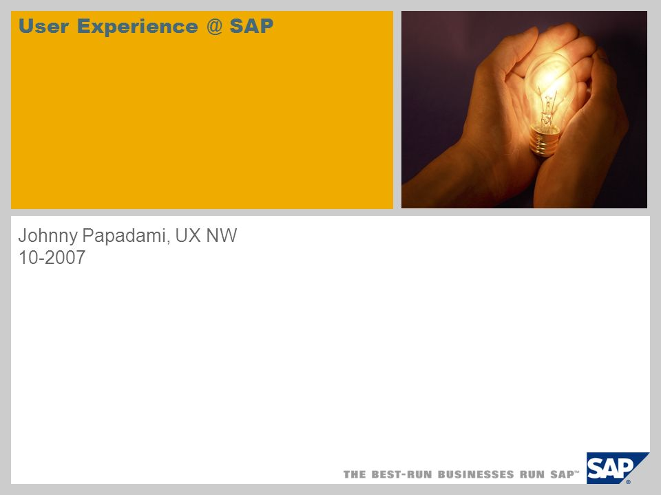 © SAP 2007 / Page 12 1.Who Are We 2.Where We Stand 3.Why Are We Here 4.When Do We Come In 5.How Do We Work 6.What Do We Deliver Agenda