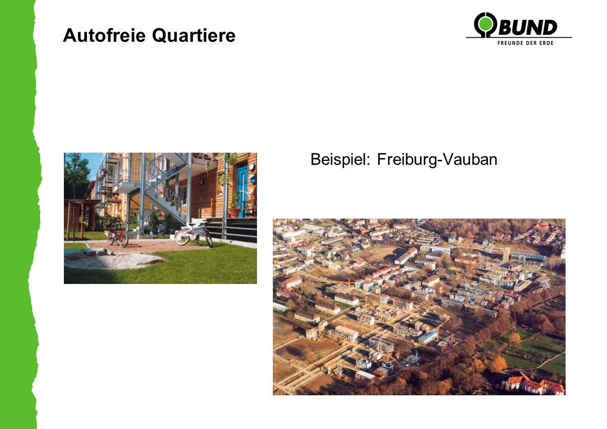 Autofreie Quartiere Beispiel: Freiburg-Vauban