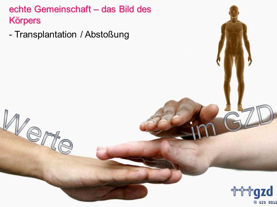 GZD 2012 echte Gemeinschaft – das Bild des Körpers - Transplantation / Abstoßung