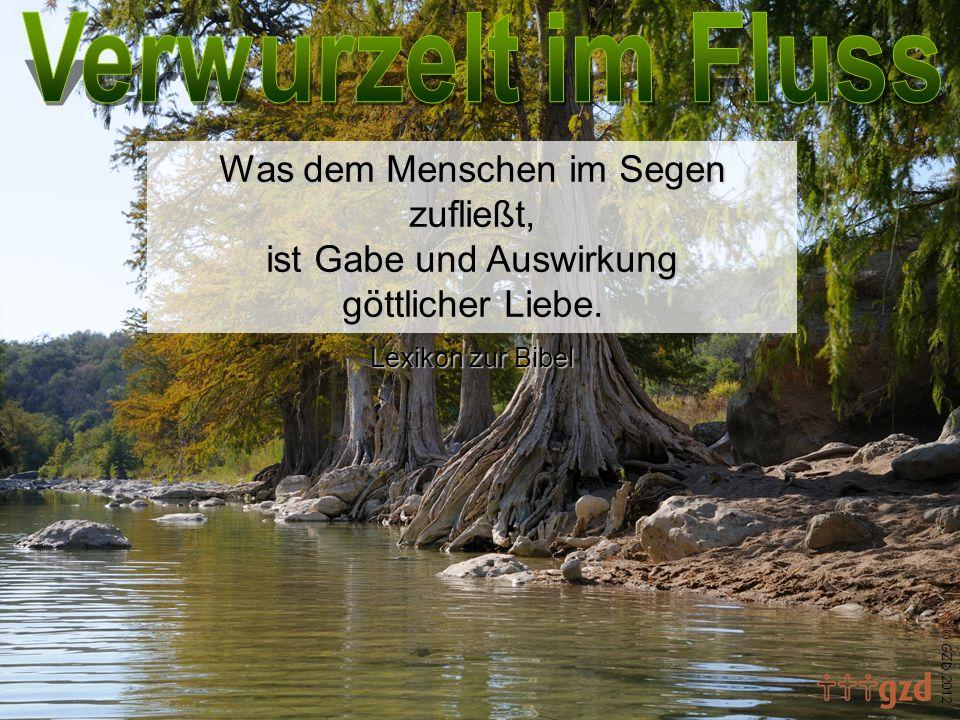 GZD 2012 Was dem Menschen im Segen zufließt, ist Gabe und Auswirkung göttlicher Liebe. Lexikon zur Bibel