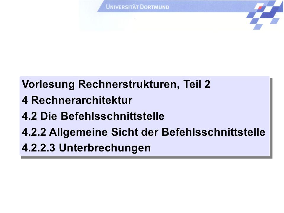 Einleitung + ISA - 119 - P. Marwedel, Univ. Dortmund, Informatik 12, 2006 Universität Dortmund Complex instruction set computers (CISC) - Eigenschafte