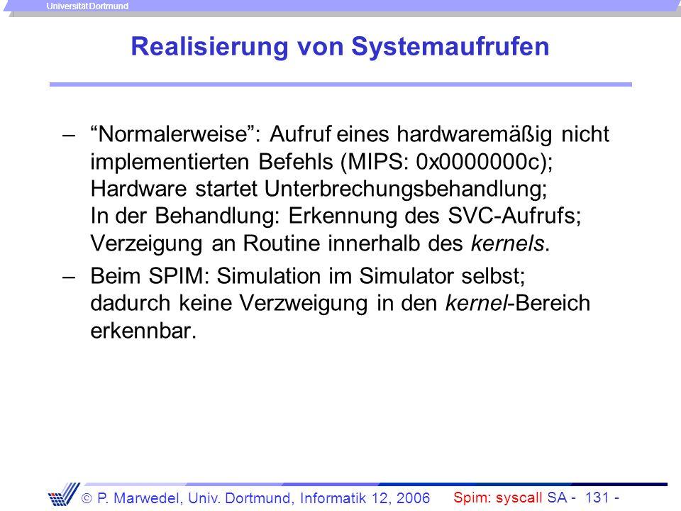 Einleitung + ISA - 130 - P. Marwedel, Univ. Dortmund, Informatik 12, 2006 Universität Dortmund Beispiel der Anwendung.data str:.asciiz