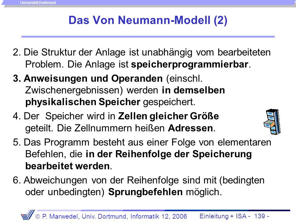 Einleitung + ISA - 138 - P. Marwedel, Univ. Dortmund, Informatik 12, 2006 Universität Dortmund Wo sind diese Komponenten auf PC-Boards? Teil des Verbi