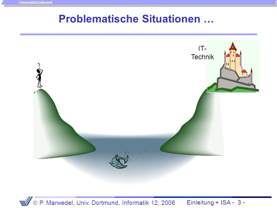 Einleitung + ISA - 2 - P. Marwedel, Univ. Dortmund, Informatik 12, 2006 Universität Dortmund Motivation Jede Ausführung von Programmen bedarf einer zu