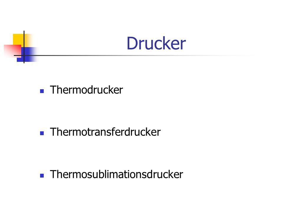 Drucker Thermodrucker Thermotransferdrucker Thermosublimationsdrucker