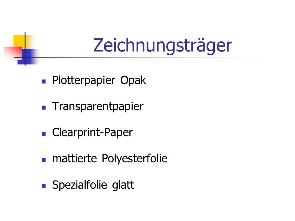 Zeichnungsträger Plotterpapier Opak Transparentpapier Clearprint-Paper mattierte Polyesterfolie Spezialfolie glatt