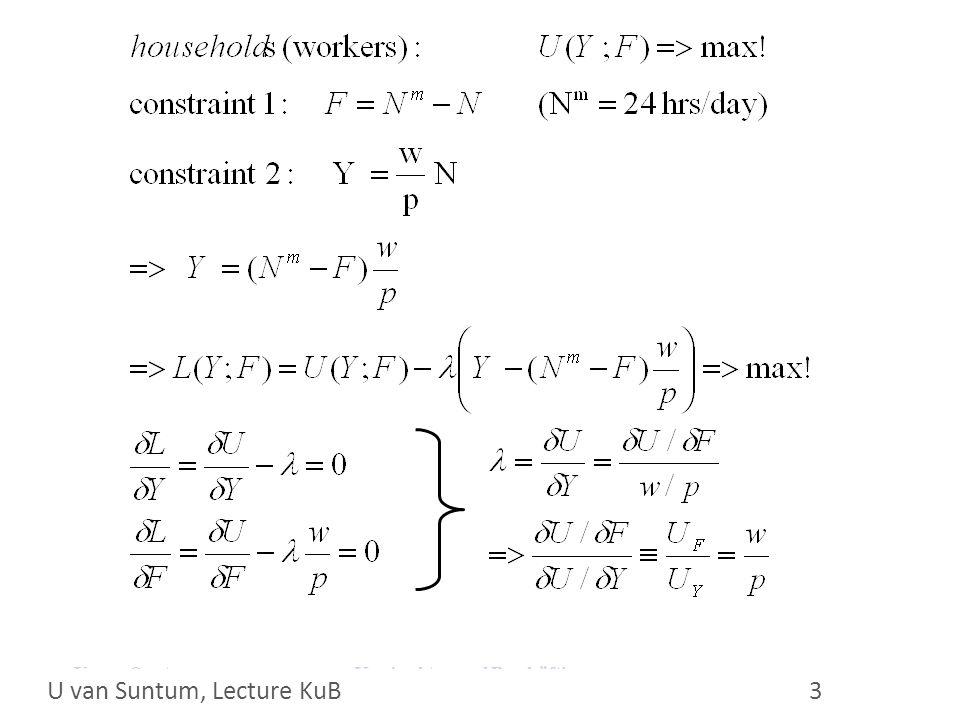 WS 2006/07 14 U. van Suntum Neoclassical production function A N N* U van Suntum, Lecture KuB 14