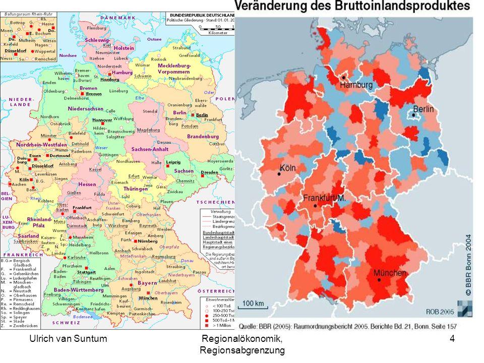 Ulrich van SuntumRegionalökonomik, Regionsabgrenzung 4