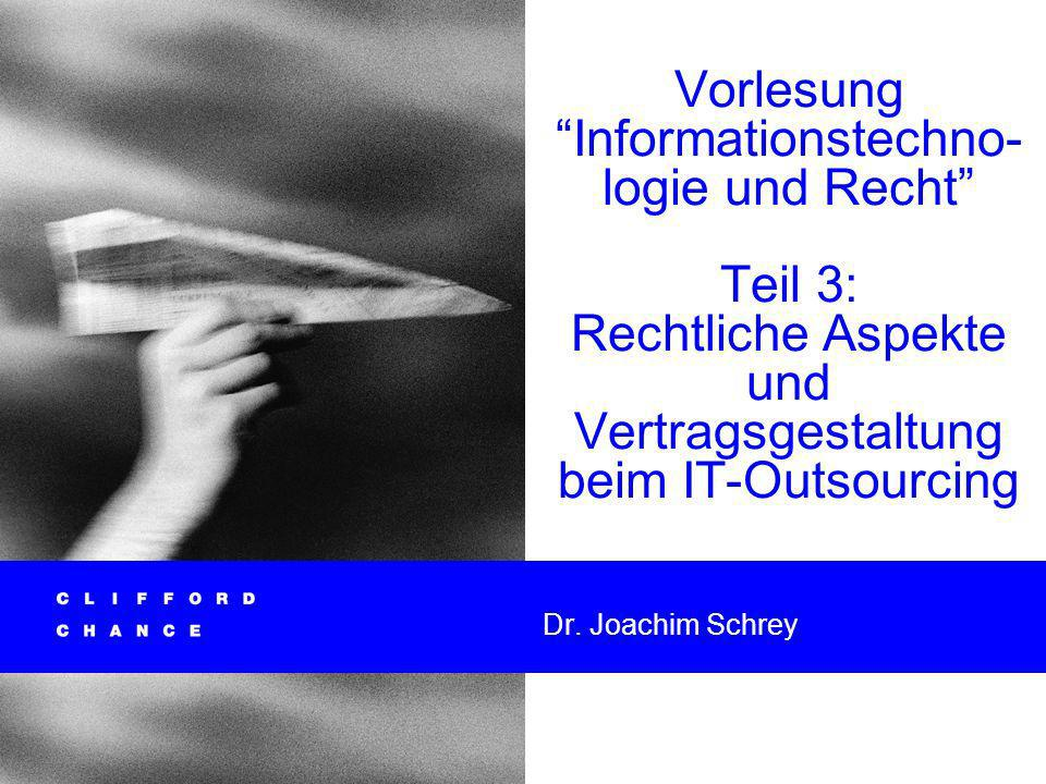 Informationstechnologie und Recht 30 Letter of IntentVorvertrag Beide Gestaltungsformen finden sich oftmals kombiniert mit einem Interimsvertrag zum Sicherstellen von vorbereitenden oder Übergangs- maßnahmen