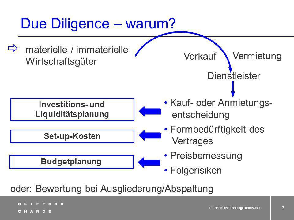 Informationstechnologie und Recht 53 § 613a BGB und Outsourcing (9) Gesetzeswortlaut seit 01.04.2002 Wer muss unterrichten.