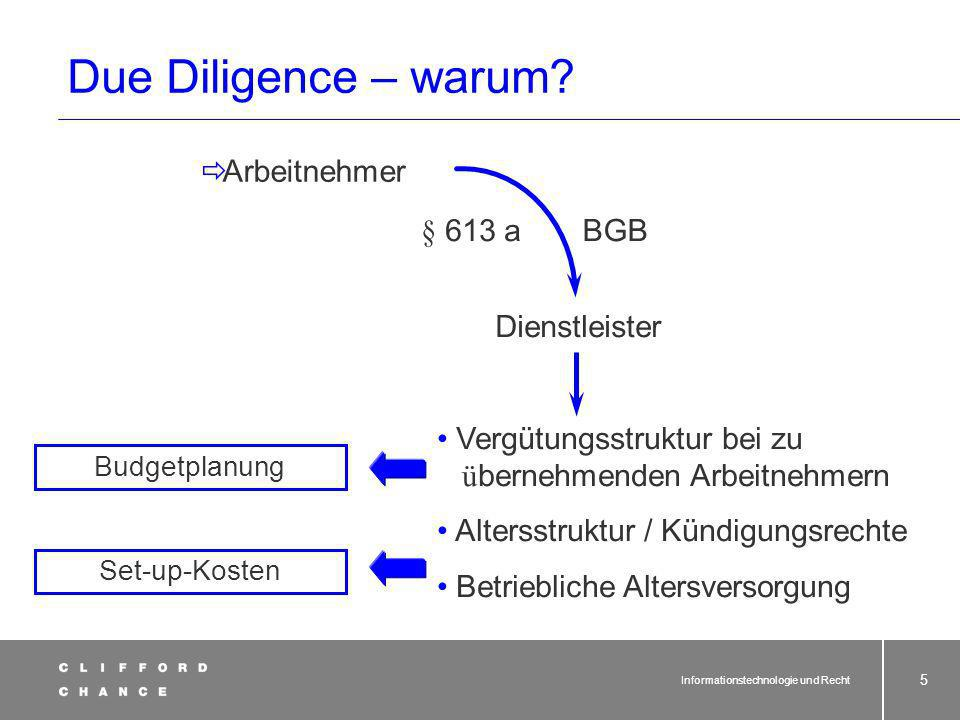 Informationstechnologie und Recht 45 Funktion § 613a BGB und Outsourcing (2) EU-Richtlinien-konforme Auslegung des § 613a BGB: Christel Schmidt - Entscheidung des EuGH Stichwort Funktionsnachfolge: zu weitgehend!