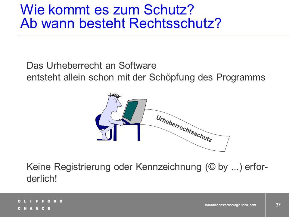 Informationstechnologie und Recht 35 Urheberrecht und Software Vor 1993 BGHCR1985, 22Inkassoprogramm BGHCR1991, 80Betriebssystem Eine für die Urheberr
