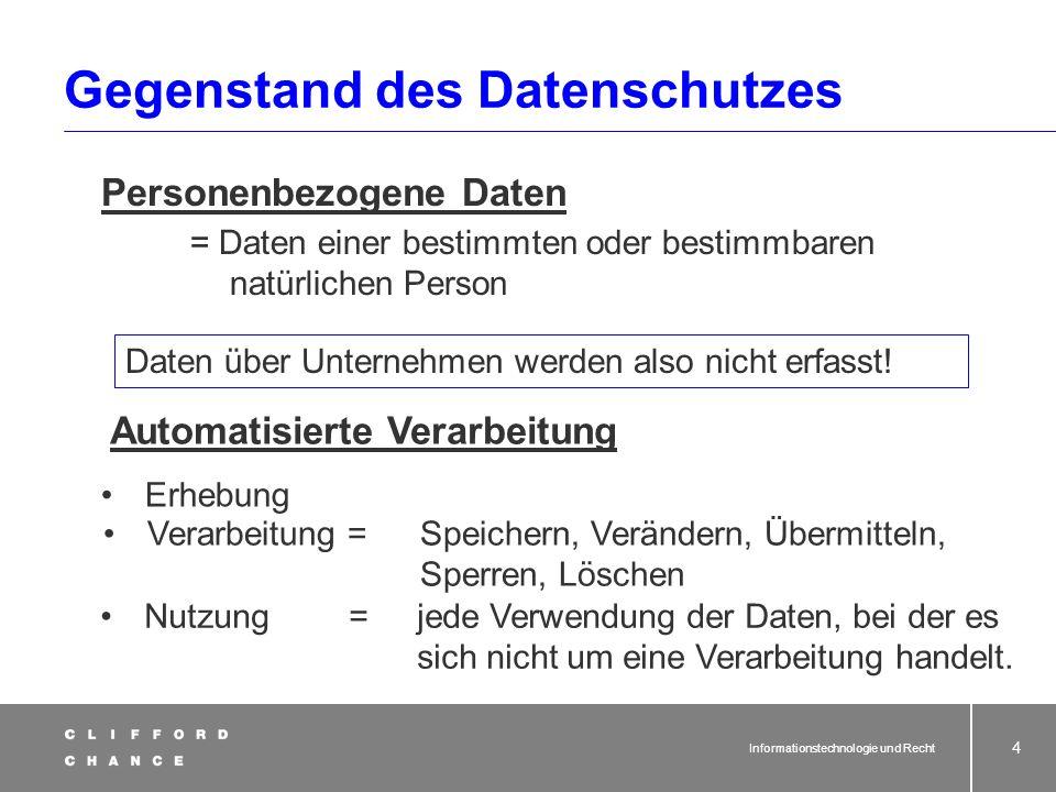 Informationstechnologie und Recht 2 Datenschutzrecht