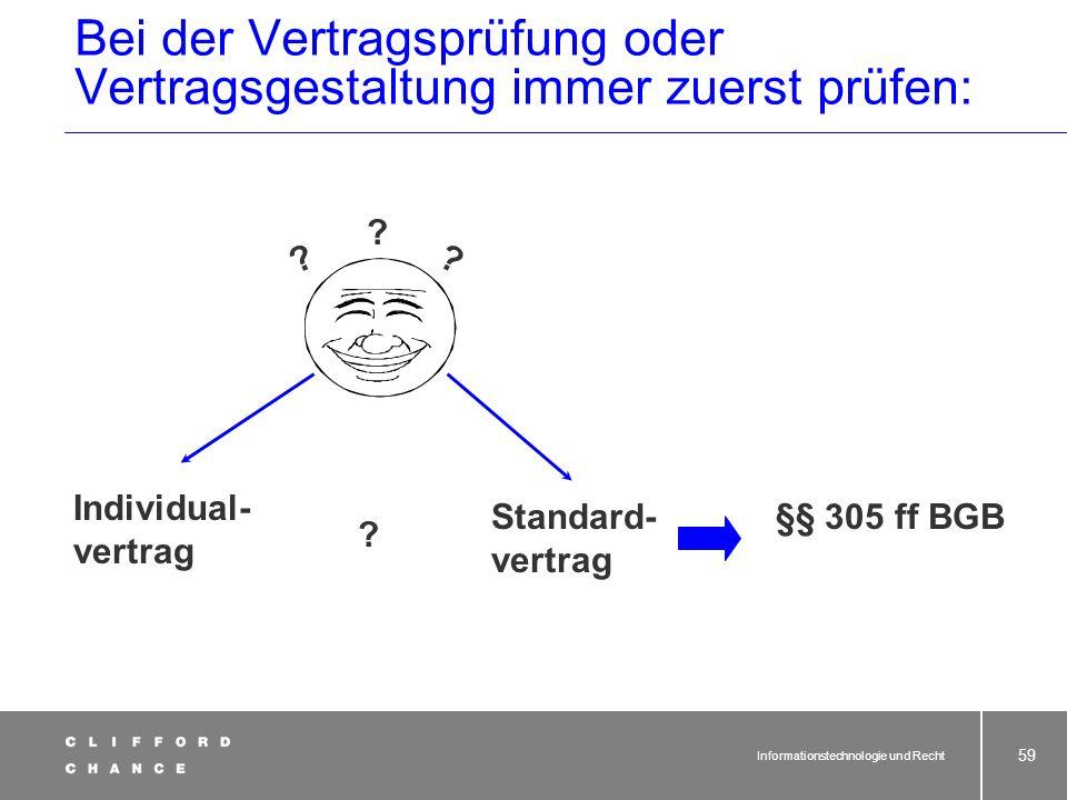 Informationstechnologie und Recht 57 Spezifikation der eingeräumten Rechte im Vertrag wichtig, denn: 1.§ 31 Abs. 4 UrhG Die Einräumung von Nutzungsrec