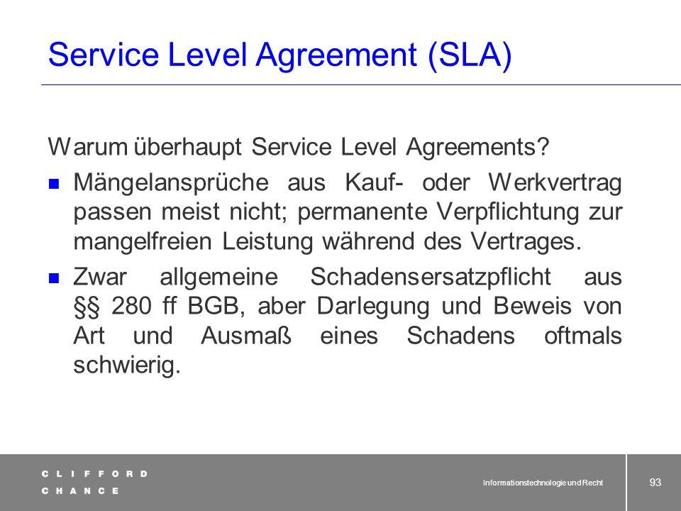 Informationstechnologie und Recht 91 § 613a BGB: Rechte und Pflichten beim Betriebsübergang (4) 1 Die Kündigung des Arbeitsverhältnisses eines Arbeitn
