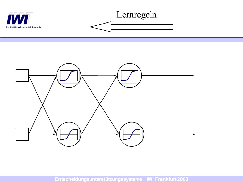 Entscheidungsunterstützungssysteme IWI Frankfurt 2003 Lernregeln