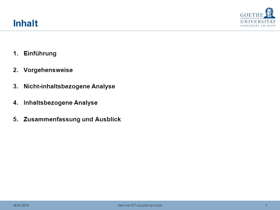 2118.01.2014 Literaturangaben (2/4) Seminar ICT Adoption and Use Devaraj, S./Easley, R.