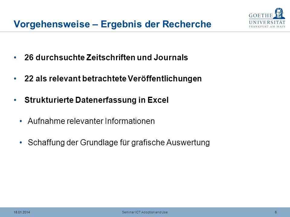 1618.01.2014 Effekte des Alters Seminar ICT Adoption and Use