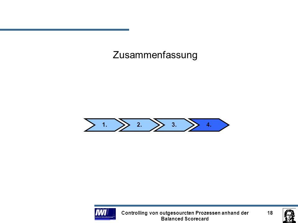 Controlling von outgesourcten Prozessen anhand der Balanced Scorecard 18 Zusammenfassung 2.3.4.1.