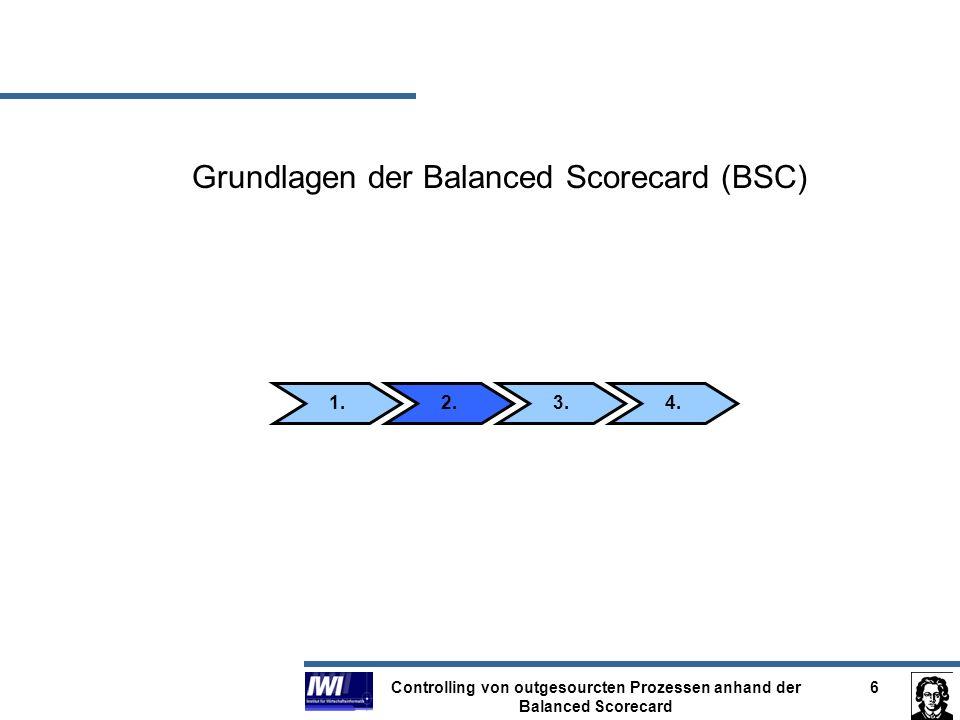 Controlling von outgesourcten Prozessen anhand der Balanced Scorecard 7 Hintergrund der BSC entwickelt von Robert S.