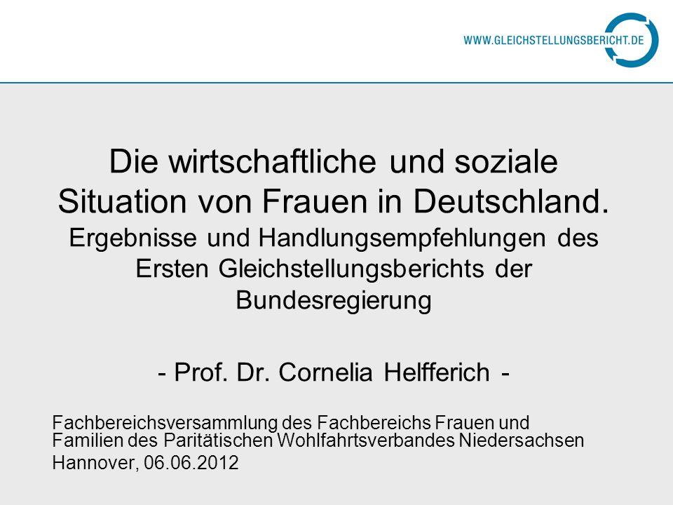 Die wirtschaftliche und soziale Situation von Frauen in Deutschland. Ergebnisse und Handlungsempfehlungen des Ersten Gleichstellungsberichts der Bunde