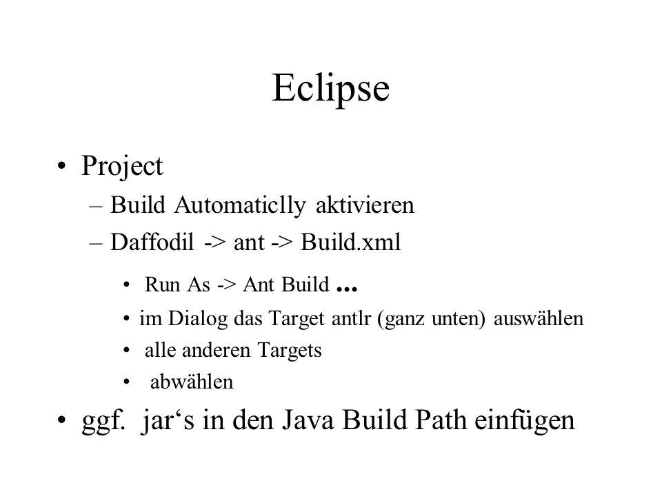 Eclipse Updaten Rechtsklick –Team -> commit...(hoch) –Team -> update (runter)