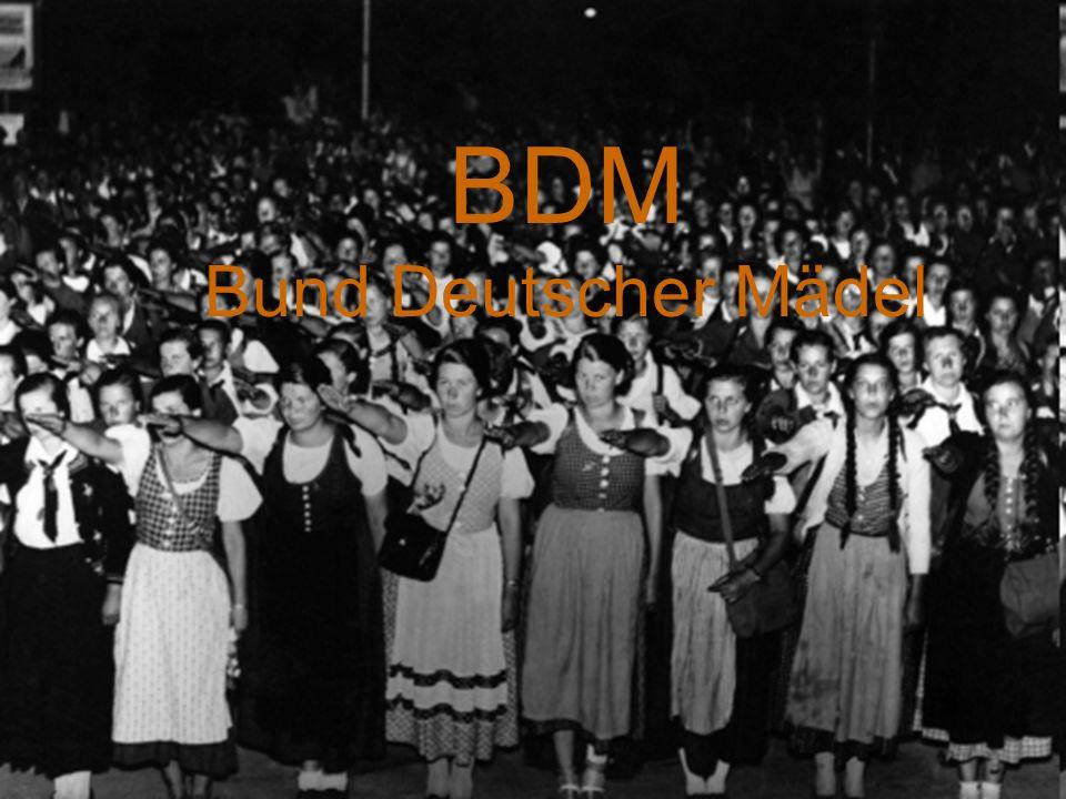 Inhaltsverzeichnis 1.Allgemeines 2.Entstehung 3.Inhalt der BDM 4.Kleidervorschriften 5.Erziehung 6.Arbeitsschulung 7.Quellen