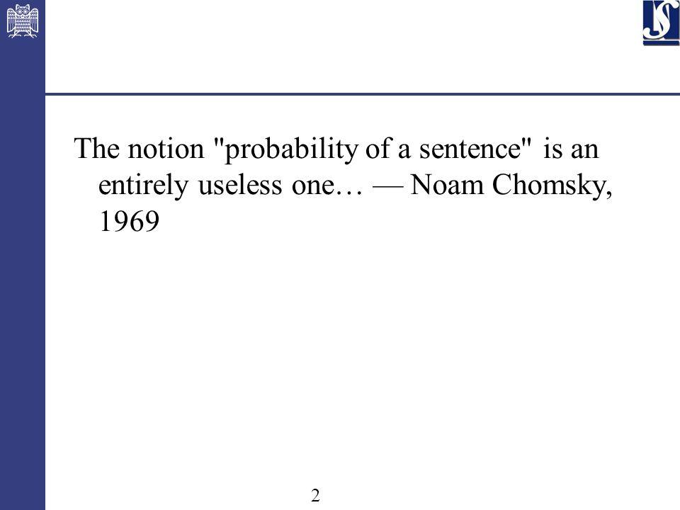 3 statistische und konnektionistische Methoden in der CL deklarative linguistische Formalismen in der CL spezielle Verfahren für die CL direkte Programmierung, keine Trennung von Beschreibung und Verarbeitung 19501960197019801990 Hauptansätze der CL (siehe 1.