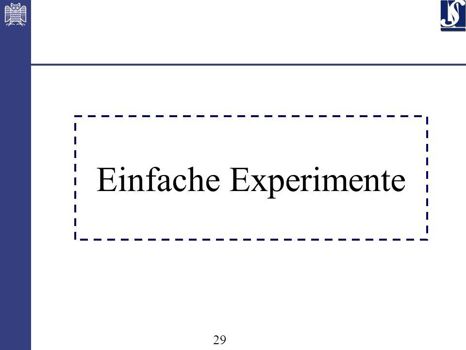 29 Einfache Experimente
