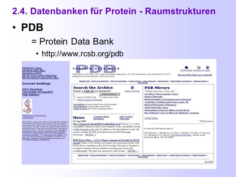 2.3. Enzym - und Metabolismus - Datenbanken (5) BioCyc http://biocyc.org/