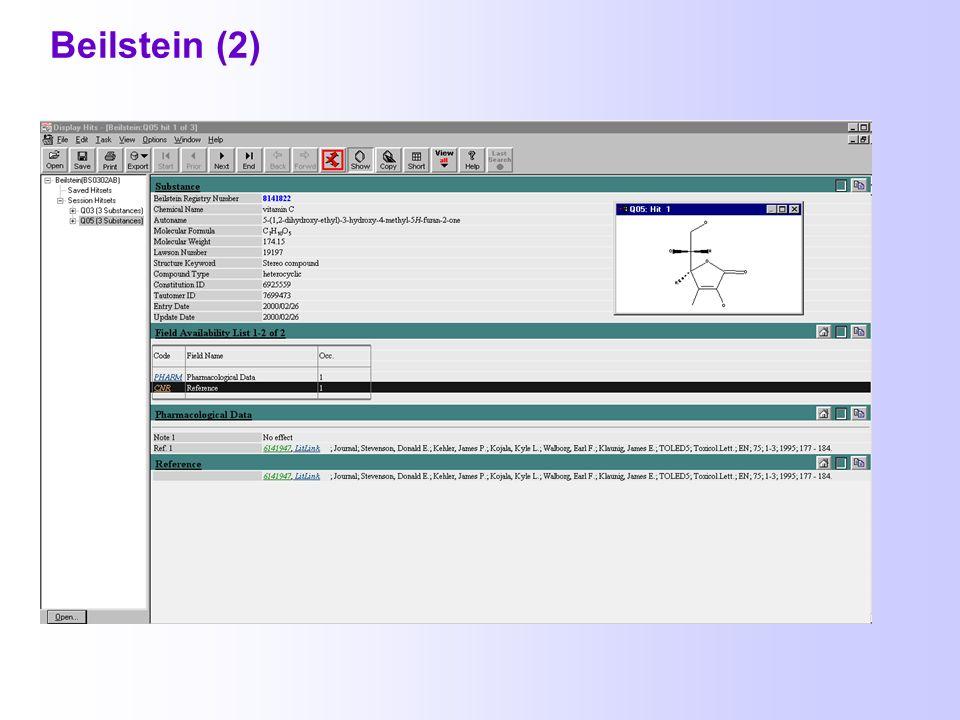 2.5. Chemische Faktendatenbanken BEILSTEIN