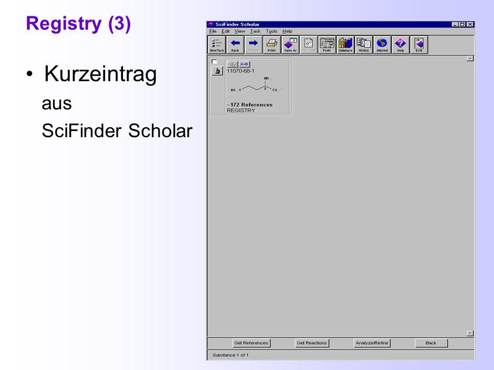 Registry (2) Suche