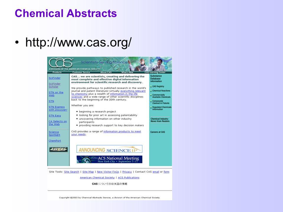 Internetanleitung zu SciFinder Scholar Weitere Materialien