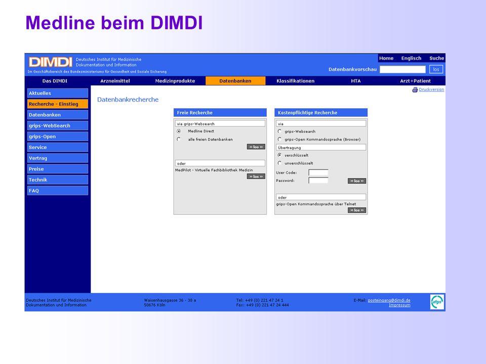 Medline http://www.dimdi.de/de/db/gui/gui-freeinfo.htm