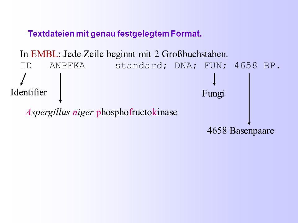 2.1. Datenbanken für Nukleotidsequenzen (5) DDBJ = DNA Data Bank of Japan http://www.nig.ac.jp/index-e.html