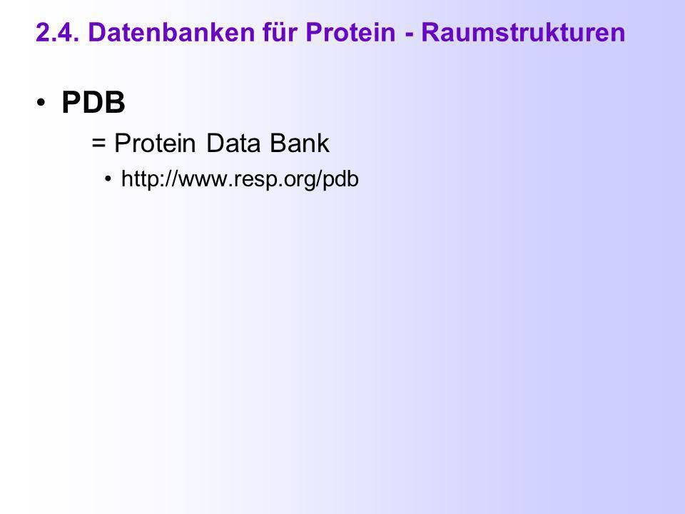2.3. Enzym - und Metabolismus - Datenbanken (5) BioCyc