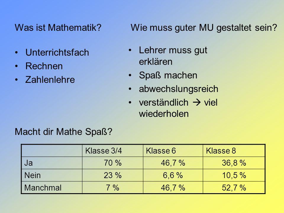 Was ist Mathematik? Unterrichtsfach Rechnen Zahlenlehre Macht dir Mathe Spaß? Lehrer muss gut erklären Spaß machen abwechslungsreich verständlich viel