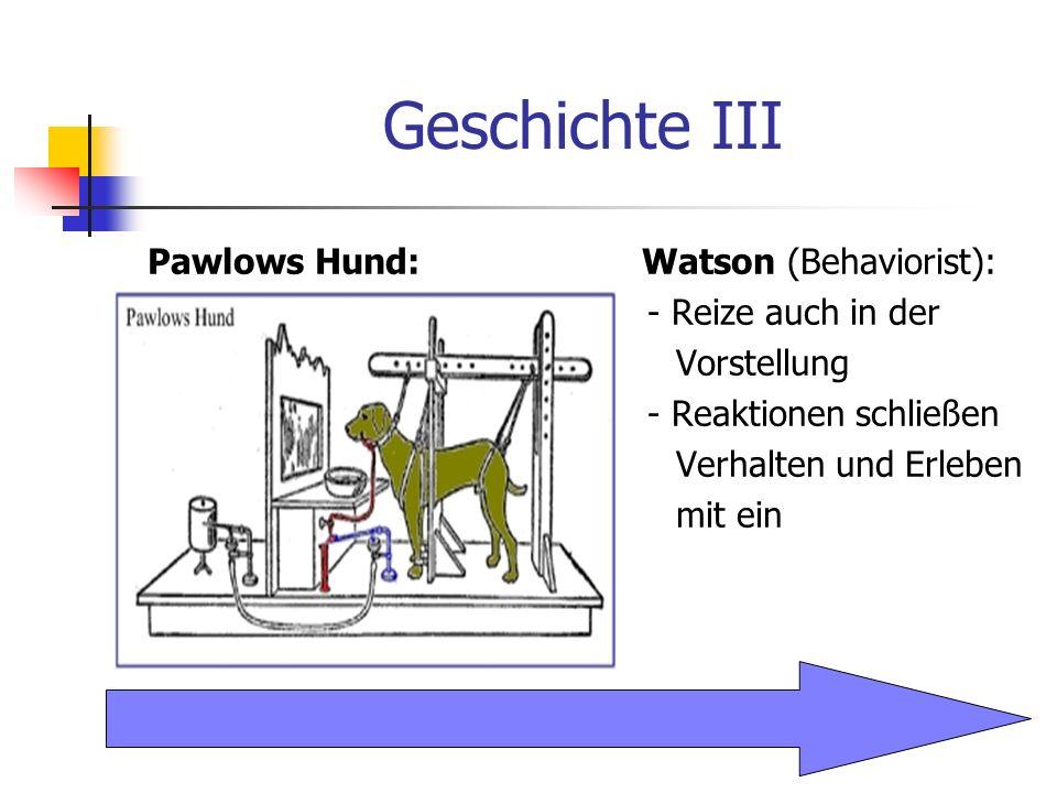 Definitionen Signallernen: Wahr- nehmung: Vorstellung: Während der Lernphase stellt der erste Reiz (Ton) ein Signal für den kurzzeitig später einsetzenden Reiz dar.