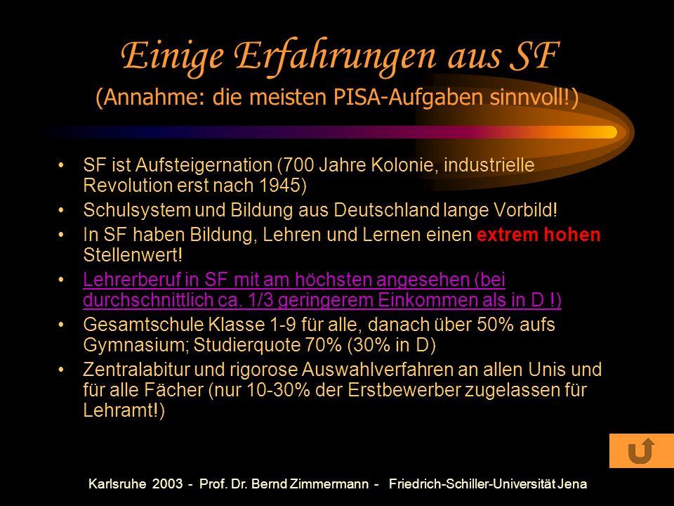 Karlsruhe 2003 - Prof. Dr. Bernd Zimmermann - Friedrich-Schiller-Universität Jena Einige Fragen Wie viel Zeit benötigt die Robbe zum atmen? Wie lange