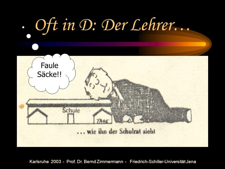 Karlsruhe 2003 - Prof. Dr. Bernd Zimmermann - Friedrich-Schiller-Universität Jena Einige Erfahrungen aus SF (Annahme: die meisten PISA-Aufgaben sinnvo