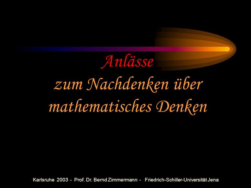Karlsruhe 2003 - Prof. Dr. Bernd Zimmermann - Friedrich-Schiller-Universität Jena Mengenleh(e?)re? Back to basics? Anwendungsorientierung (vgl. PISA)?