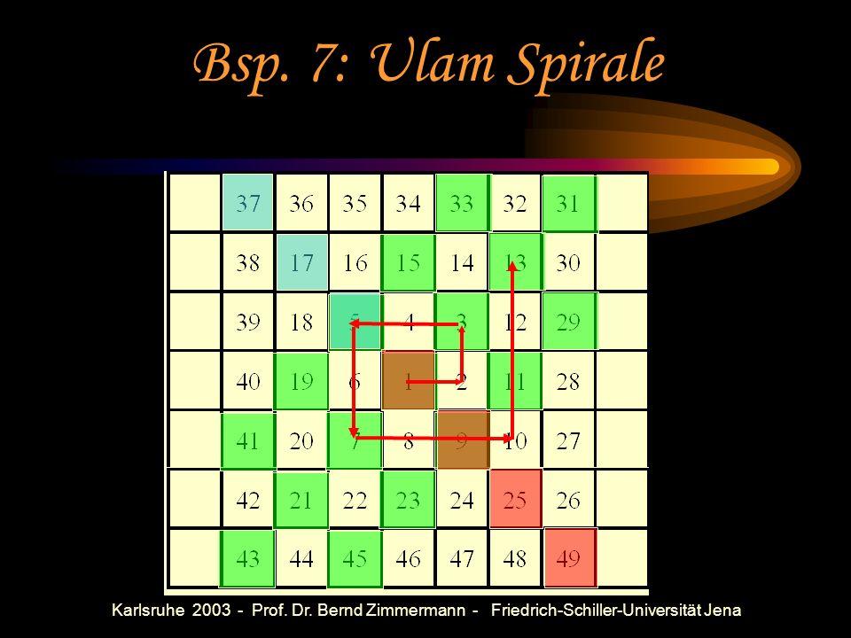 Karlsruhe 2003 - Prof. Dr. Bernd Zimmermann - Friedrich-Schiller-Universität Jena Bsp. 6: LGS I) x+2y=1 2x+2y=1 II) x+2y+3z=1 2x+2y+3z=1 3x+3y+3z=1 II