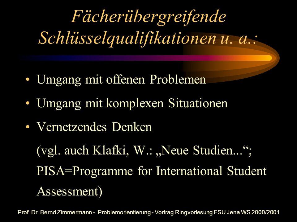 Forderungen von Wolfgang Klafki (1985) Schüler sollten von den ersten Schuljahren an in gestuften Schwierigkeitsgraden (u. a.) lernen Fragen zu stelle