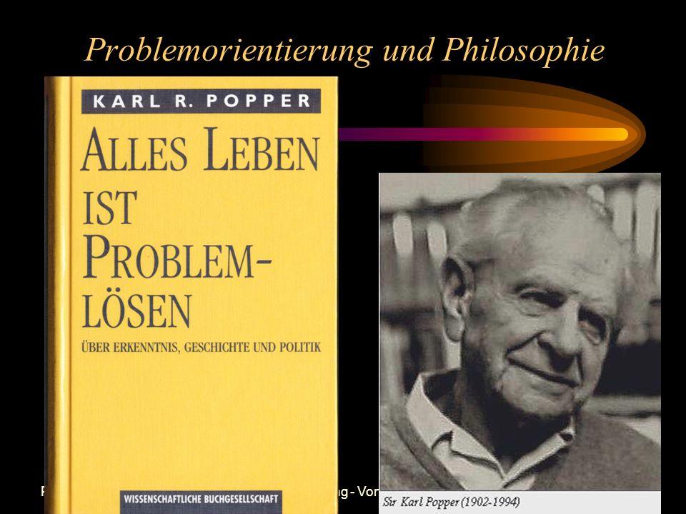 Prof. Dr. Bernd Zimmermann - Problemorientierung - Vortrag Ringvorlesung FSU Jena WS 2000/2001 Wertheimer/Duncker 1935 Newell/Simon 1970 Klix/Krause 1