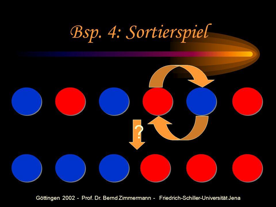 Göttingen 2002 - Prof. Dr. Bernd Zimmermann - Friedrich-Schiller-Universität Jena Mögliche Fragen Wie viele verschiedene Wege findet ihr? Durch wie vi