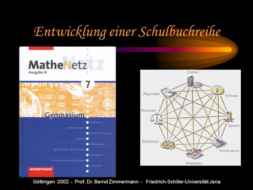 Göttingen 2002 - Prof. Dr. Bernd Zimmermann - Friedrich-Schiller-Universität Jena Wichtige heuristische Methoden Inhaltliches Lösen Darstellungswechse
