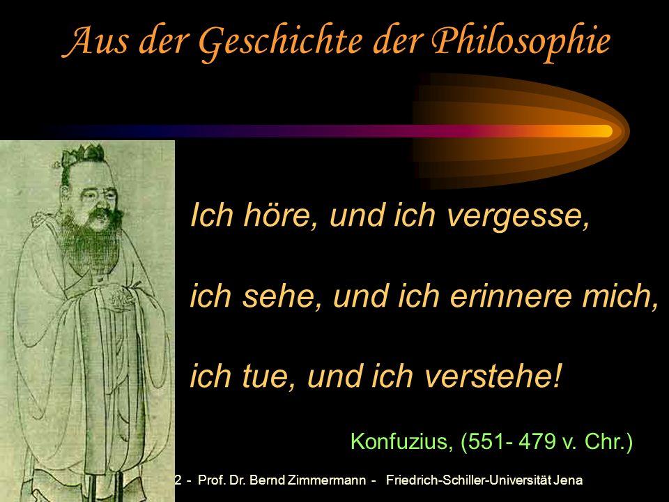 Göttingen 2002 - Prof. Dr. Bernd Zimmermann - Friedrich-Schiller-Universität Jena Probleme mit der Problemorientierungen: Implementierungsschwierigkei