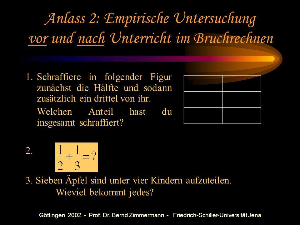Göttingen 2002 - Prof. Dr. Bernd Zimmermann - Friedrich-Schiller-Universität Jena Anlass 1: Bruchrechnung Der deutsche Osthandel erlebte in diesem Jah