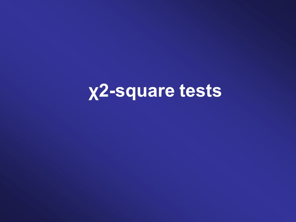 χ2-square tests