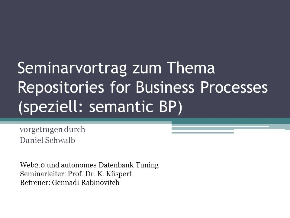 Architektur - SBPMS Support components Repositories SBP Repository Ontology / SWS Repository Execution History Lifting / Lowering of data Mediation Reasoning … 18.01.2014 22